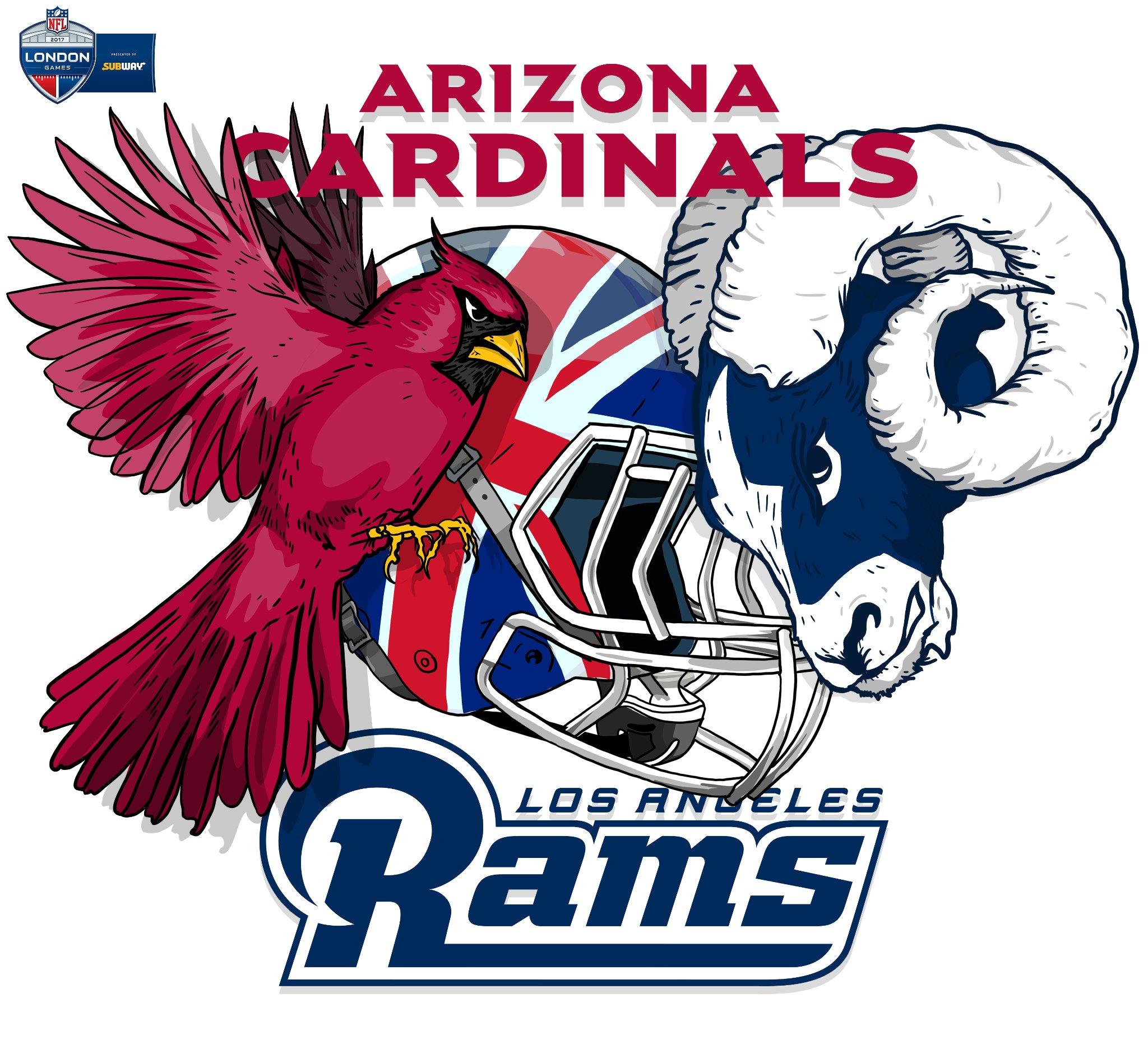 GAMEDAY IN ����!  Who's ready for @AZCardinals vs. @RamsNFL?! #AZvsLA #NFLUK https://t.co/o72kgeTDWe