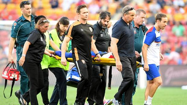 Gruesome Ronald Vargas injury sours Newcastle Jets' win over Brisbane Roar