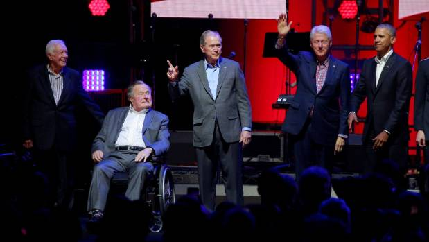 Five former US presidents gather at fundraising concert – Trump stays home