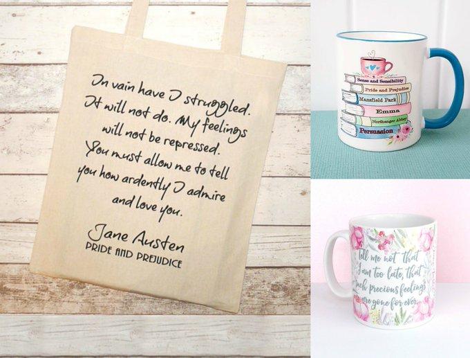Jane Austen Mugs & Tote Bag Giveaway