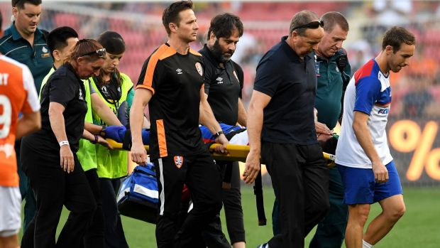 Gruesome leg injury to Ronald Vargas sours Newcastle Jets' win over Brisbane Roar