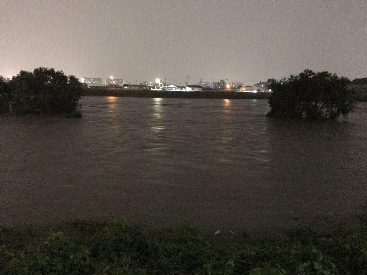 おいおい大阪の生命線とも言える大和川が氾濫すんぞ とりあえず「なんば」から南大阪は水没しそうなんだけど ->画像>67枚