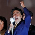 Japanese Prime Minister Shinzo Abe's ruling bloc on track for big election win
