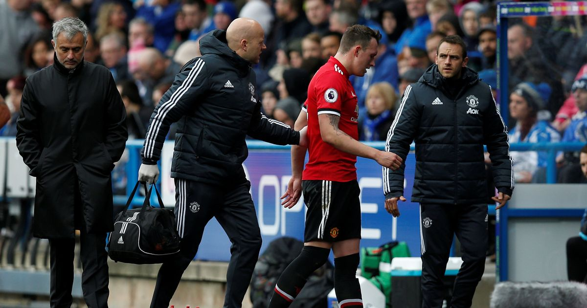Manchester United injury update on Phil Jones after defender limps off during Huddersfield defeat