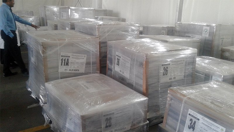 First batch of ballot papers arrive in Nairobi