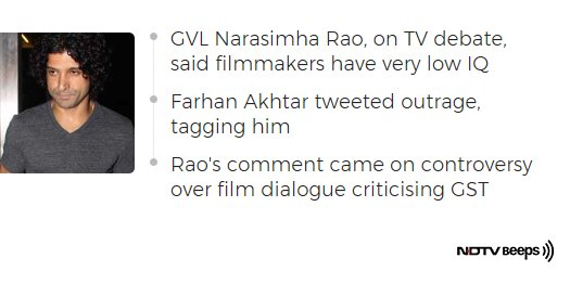 'How Dare You' Farhan Akhtar To BJP Spokesperson On 'Low IQ' Comment #NDTVNewsBeeps