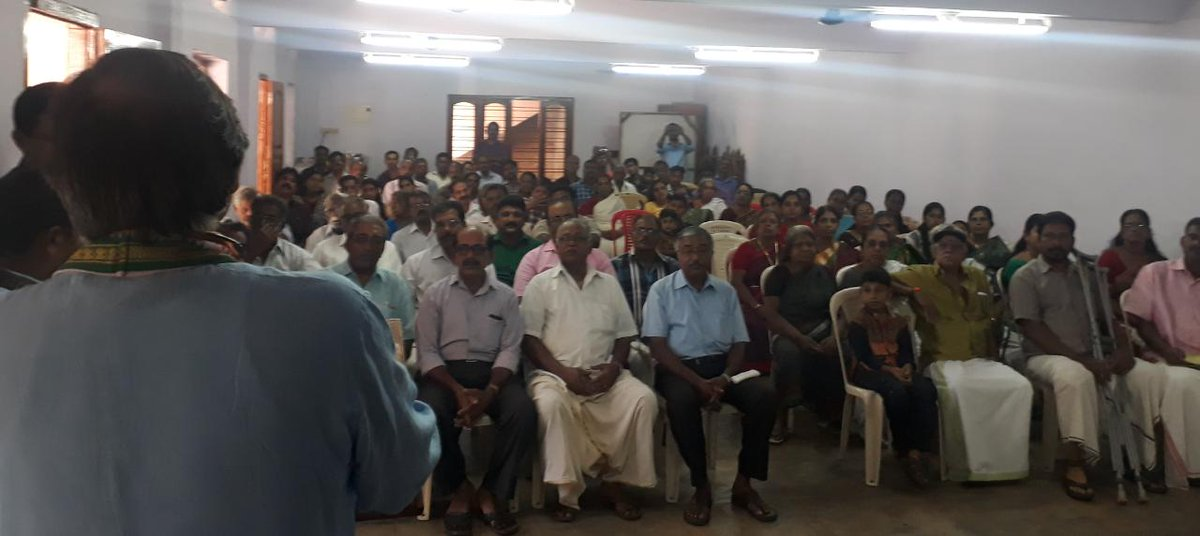 A cross-section of my audiences in various parts of rural Parassala today