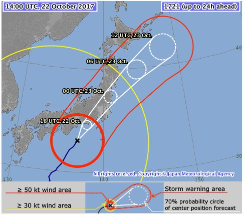 Typhoon brings heavy rain to western Japan, approaches Tokyo
