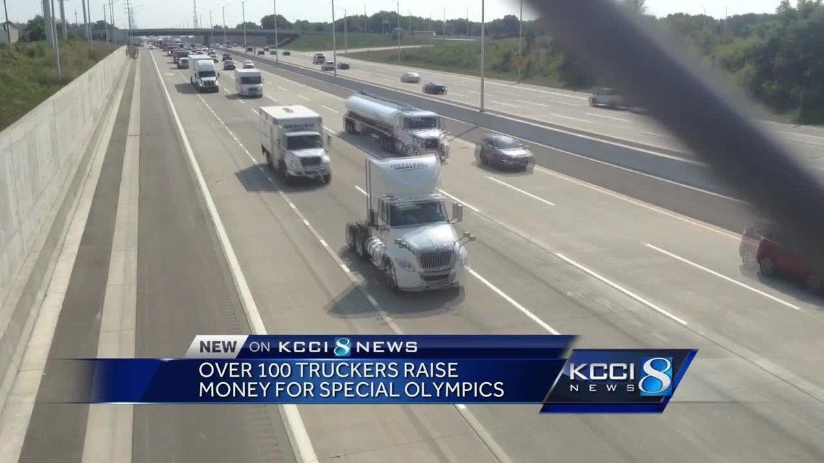 Truck convoy rolls through metro to raise money for Special Olympics
