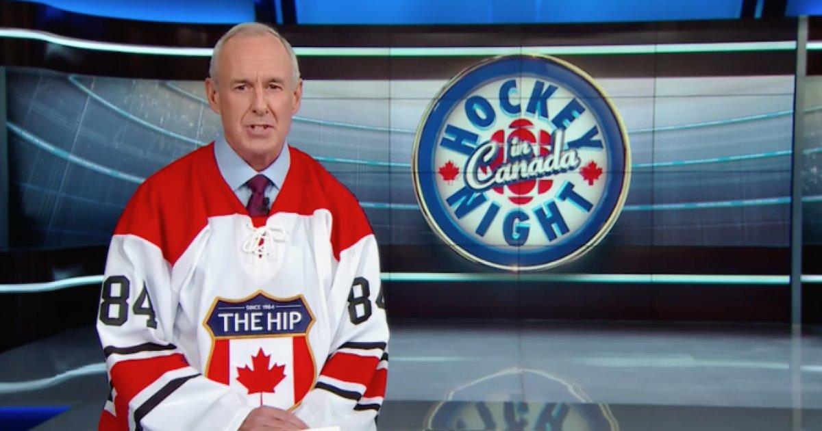 "WATCH ""Hockey Night In Canada"" pays tribute to Gord Downie"
