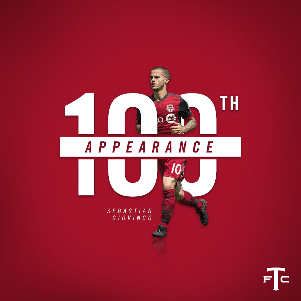 💥🐜💯Congrats to Sebastian Giovinco on his 100th appearance for Toronto FC!