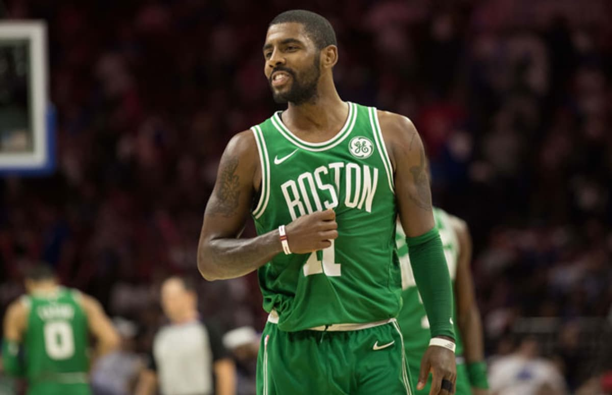 """Telling a 76ers fan to """"suck my di*k"""" will cost Kyrie Irving $25,000."""
