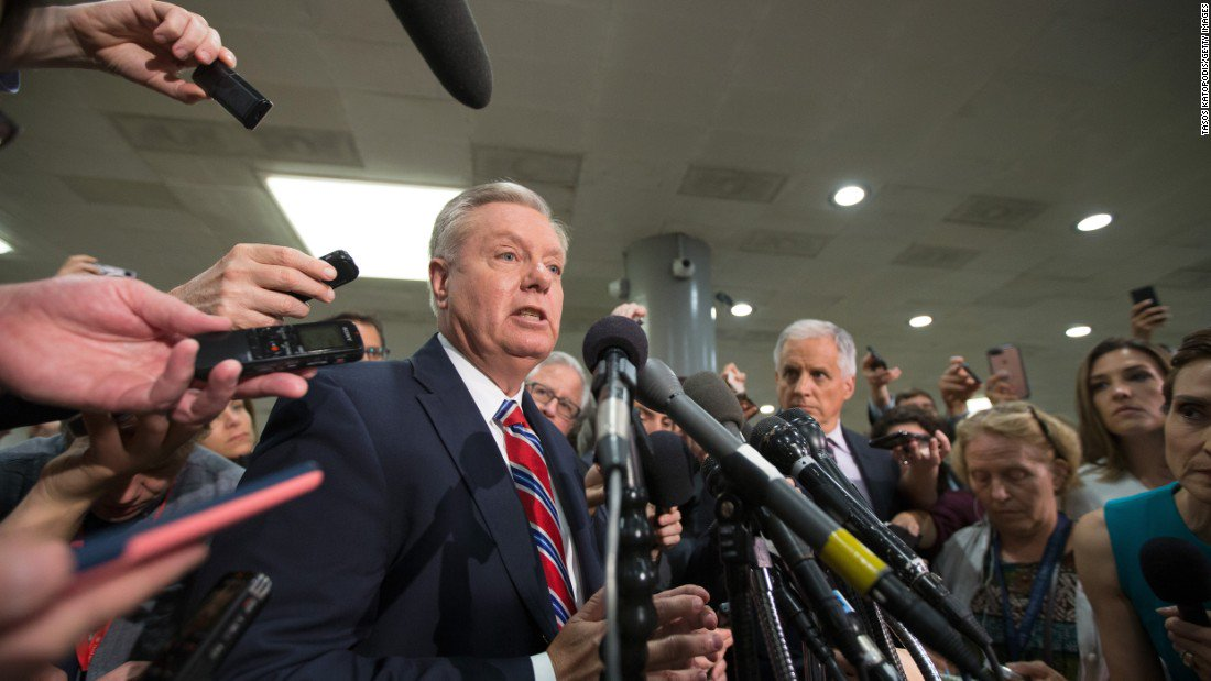 """Sen. Lindsey Graham to President Trump """"Go after Russia because they're coming after us"""""""