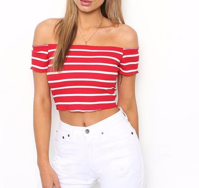 Carissa Striped Crop Top #love #Fashion #dresses #DreamClosetCouture #rompers $24.99