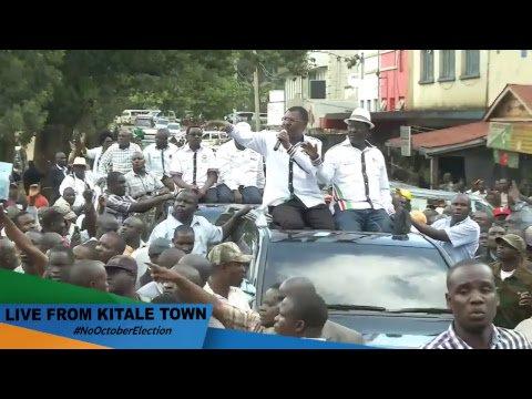 Tunasisitiza msimamo wetu tukiwa Kitale Town, #HakunaUchaguziOktoba26