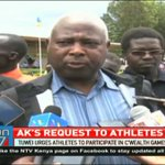 AK President Jack Tuwei urges athletes to participate in Commonwealth Games