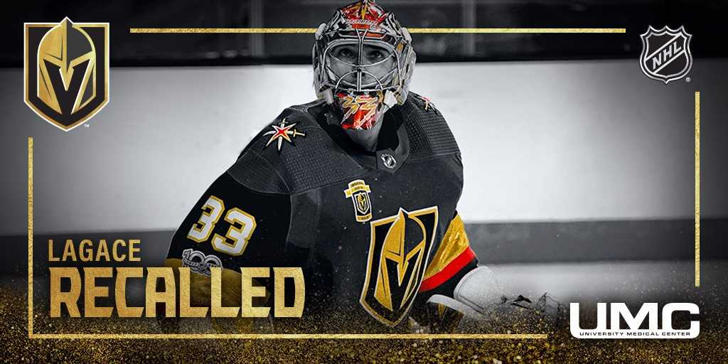 NEWS: We have recalled goalie Maxime Lagace from @Chicago_Wolves.  More:  https://t.co/XwhMnNhK95 https://t.co/pbll64pxiQ