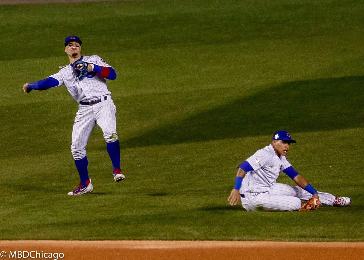Ball up the middle and @javy23baez, @Addison_Russell refuse to quit on it. #thatscub #FlyTheW @Cubs @BleacherNation https://t.co/HH1nUHbadb