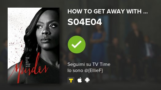 I've just watched episode S04E04 of How to Get Away with...! #HTGAWM  https://t.co/4yphAfPFwE #tvtime https://t.co/Ik6uOwTq6D