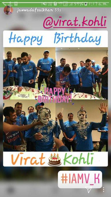 Blessed to born in  Virat Kohli era. Happy Birthday