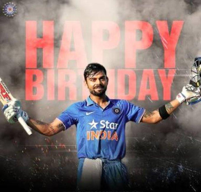 Happy birthday Virat Kohli... Lots of love to you...
