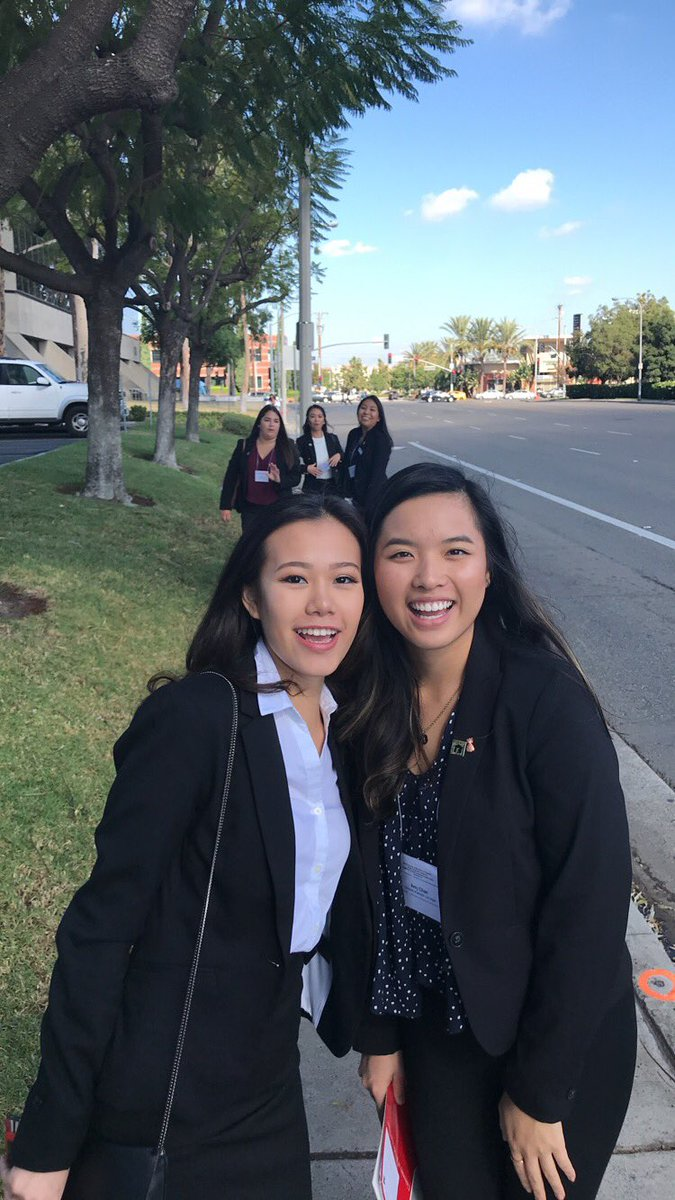 Walking to lunch during our brea
