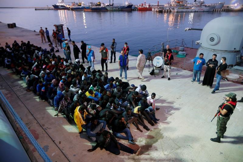 Bolstered Libyan coast guard intercepts packed migrant boat