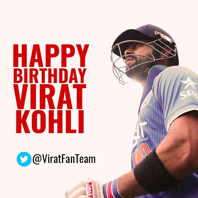 Happy bday Virat Kohli.. born to break d records.. aggressive+consistency = My thala Virat Kohli