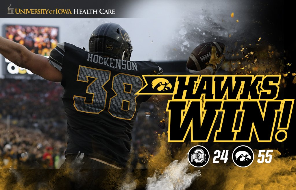 RT @TheIowaHawkeyes: HAWKS WIN!! HAWKS WIN!!! #Hawkeyes #FightForIowa https://t.co/Y3Xw6A9T4R