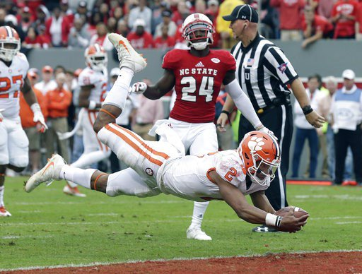 No. 6 Clemson holds off No. 20 NC State 38-31 in ACC