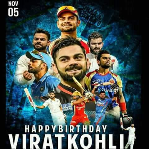 Many many happy birthday day virat Kohli my god my love my role model and etc.
