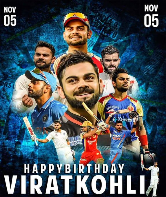 Happy birthday to Virat Kohli