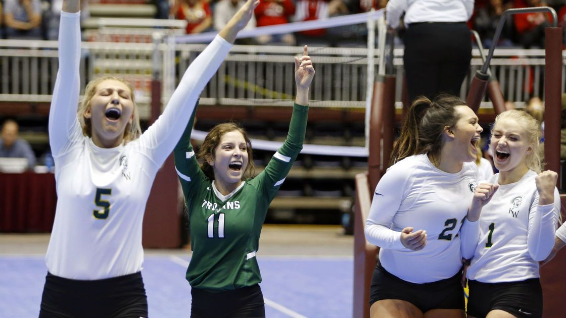 Four Wyoming volleyball teams claim titles at state championships
