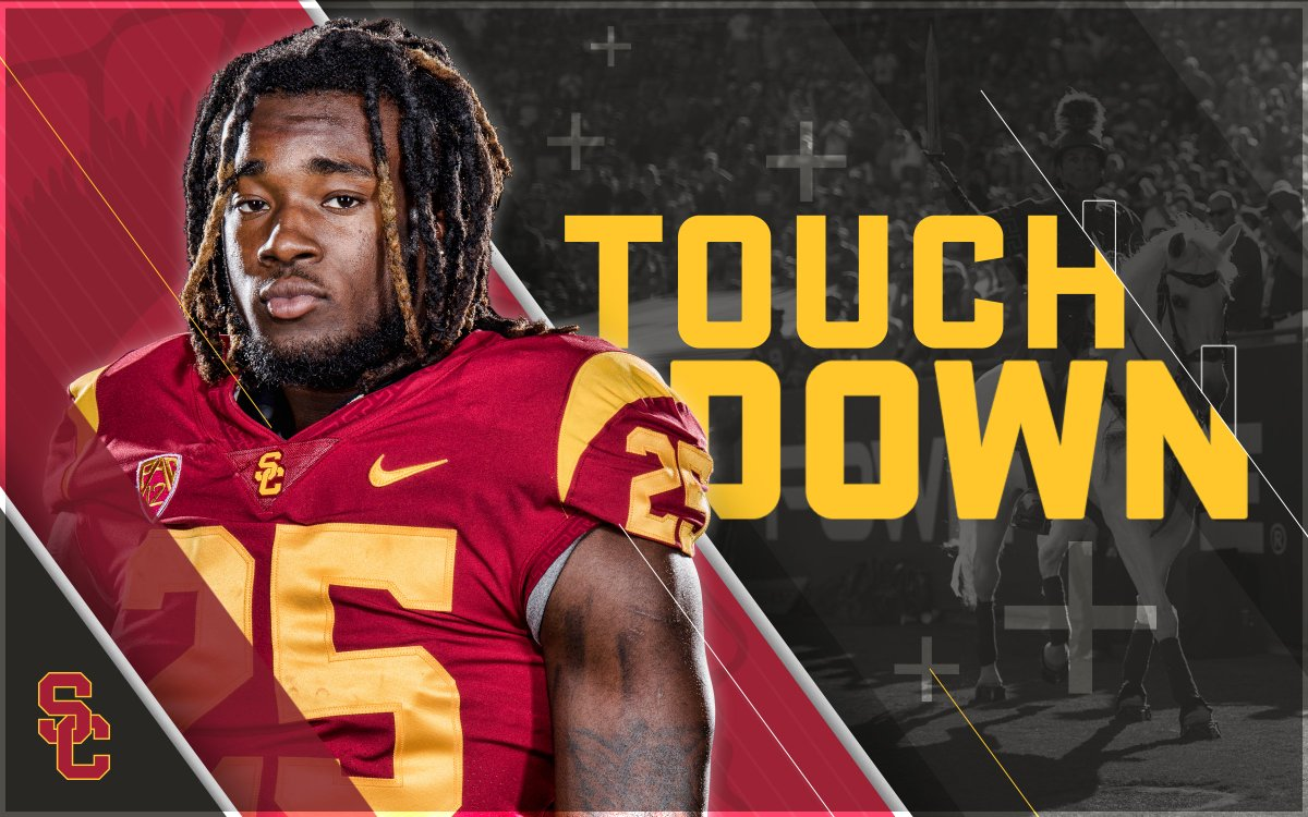 TROJAN TOUCHDOWN  THERE  GOES  touchdown usc