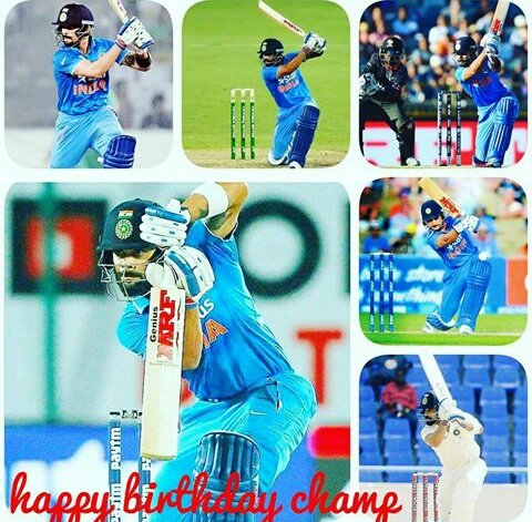 Happy birthday champ  VIRAT KOHLI