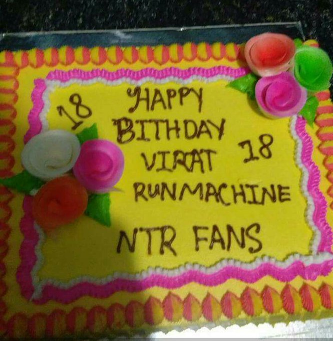 Happy Bday Virat Kohli from Fans