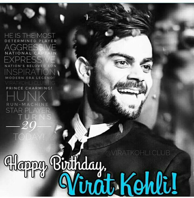 Happy birthday to you virat kohli