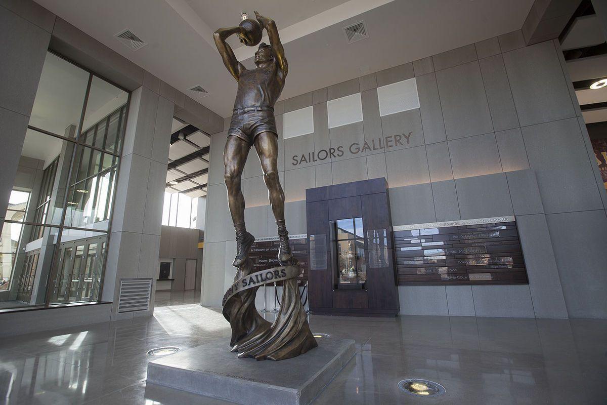Wyoming athletics re-dedicates Arena-Auditorium, unveils new Kenny Sailors statue