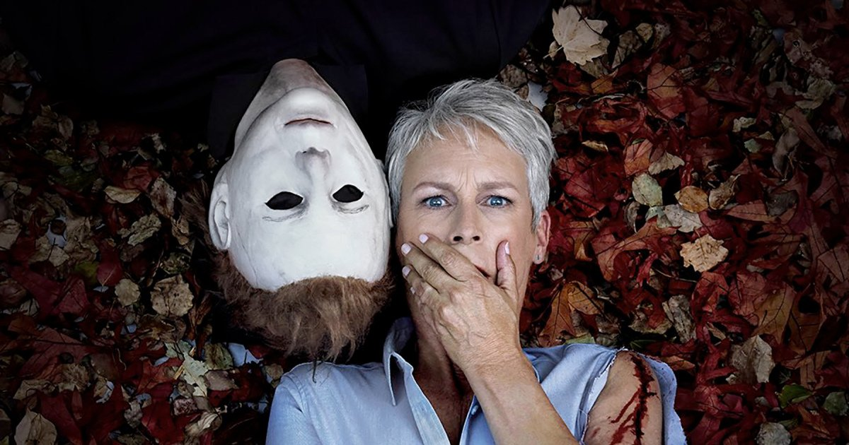 Jamie Lee Curtis and Michael Myers get cozy in new Halloween promo image: