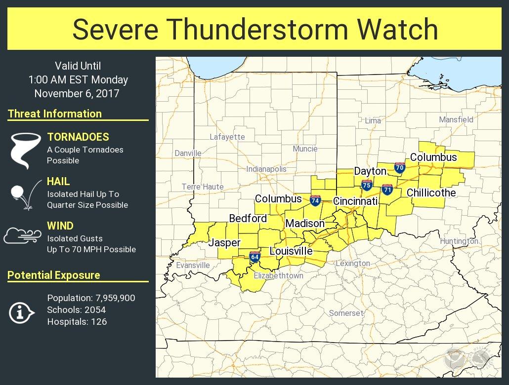 NWSSevereTstorm severe thunderstorm watch
