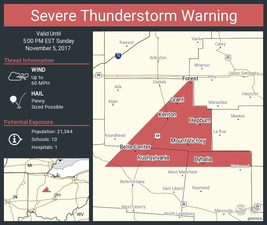 NWSILN severe thunderstorm warning
