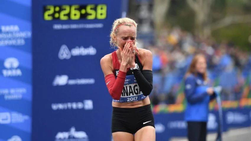 Watch the emotional moments of Shalane Flanagan's New York City Marathon win