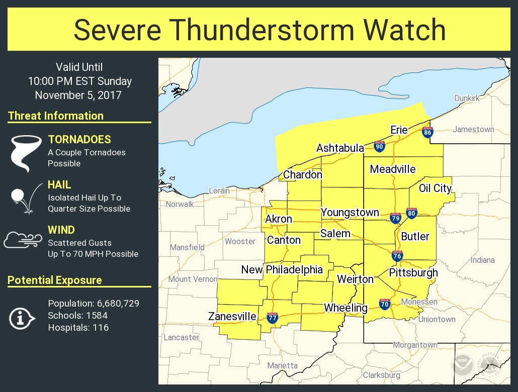 NWSPittsburgh severe thunderstorm watch