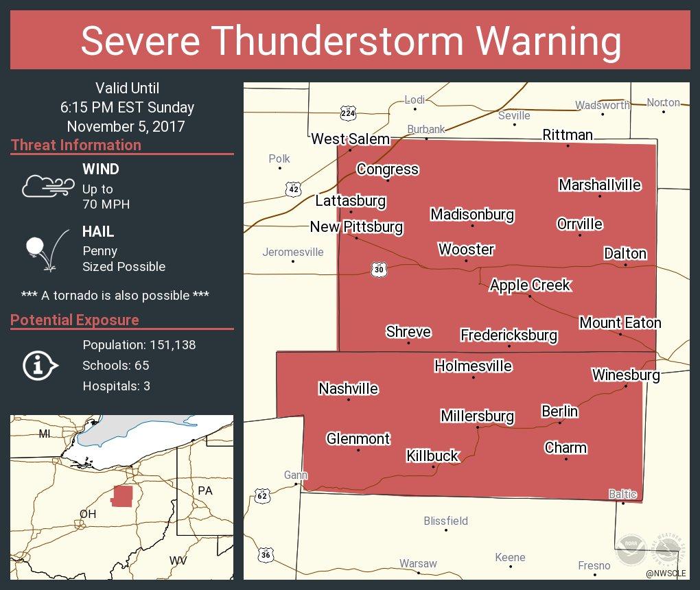 NWSCLE severe thunderstorm warning