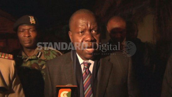 Education CS Fred Matiang'i oversees start of KCSE exam