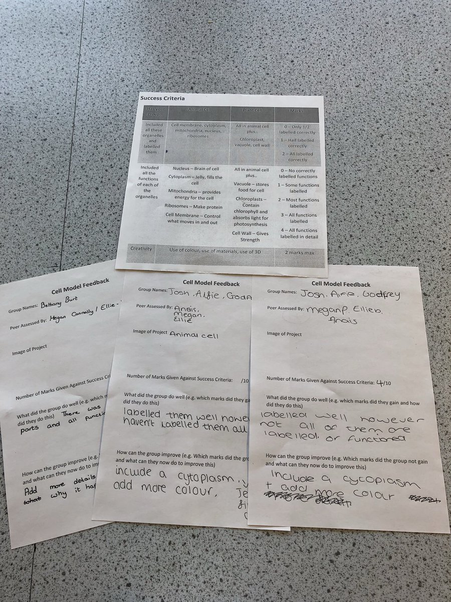 test Twitter Media - They also peer assessed each other's work using detailed feedback sheets against success criteria (RJO) https://t.co/FtTXjguK6Y