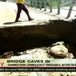 Bridge connecting West Pokot and Turkana counties caves in after heavy rains