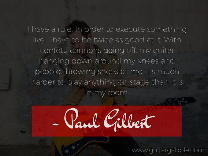 Happy birthday, Paul Gilbert! \\m/