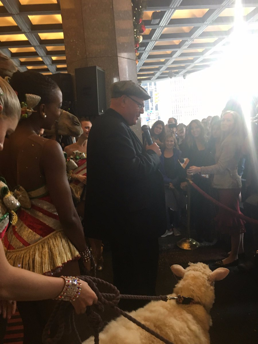 test Twitter Media - This morning I joined the @Rockettes in welcoming the camels, sheep, and donkey back to @RadioCity for the start of rehearsals. https://t.co/iaCXT7wY3O