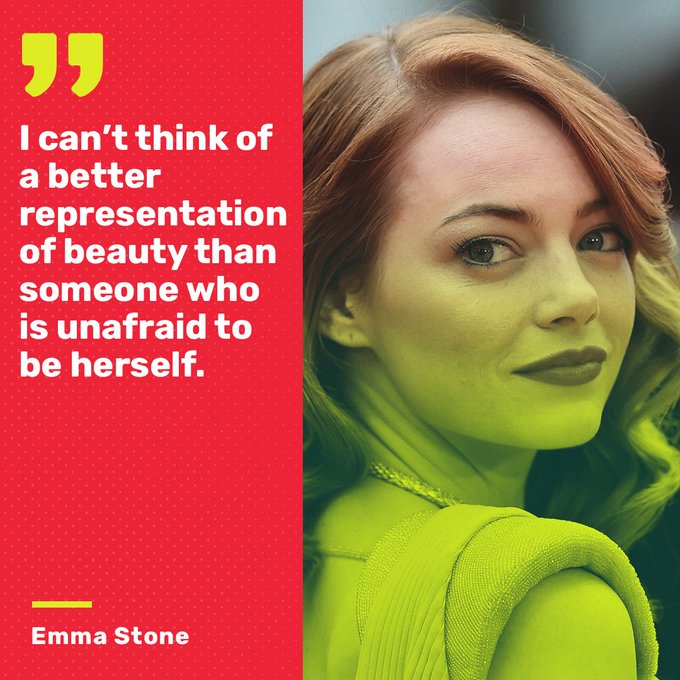 Happy Birthday Emma Stone!  Please keep delivering these gems of wisdom